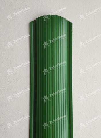 Евроштакетник металлический 110 мм RAL 6002 фигурный 0.5 мм