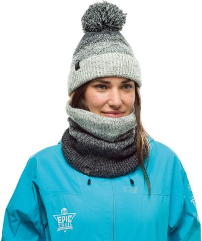 Комплект вязаный шапка-шарф Buff Knitted Polar Masha Grey фото 1
