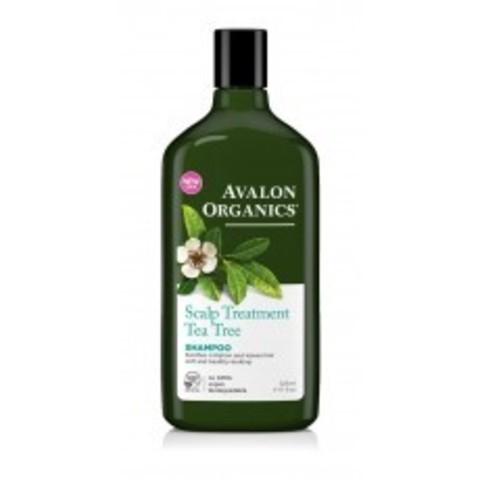 Avalon Organics Shampoo: Шампунь для волос с маслом чайного дерева (Tea Tree Scalp Treatment Shampoo), 325мл
