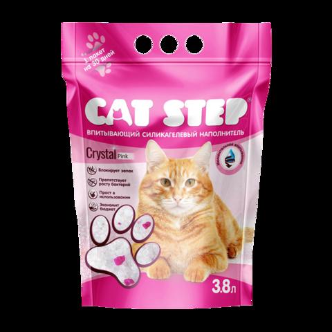 Cat Step Crystal Pink Наполнитель для туалета кошек силикагелевый впитывающий