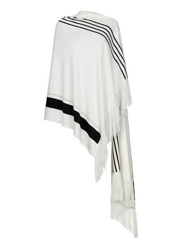 Женский платок молочного цвета из шелка и кашемира - фото 2