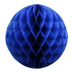 Бумажное украшение шар 20 см темно-синий