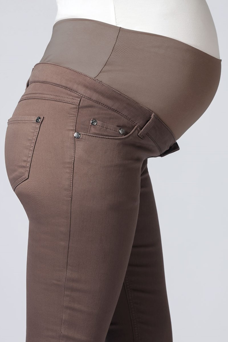Брюки для беременных 02789 коричневый