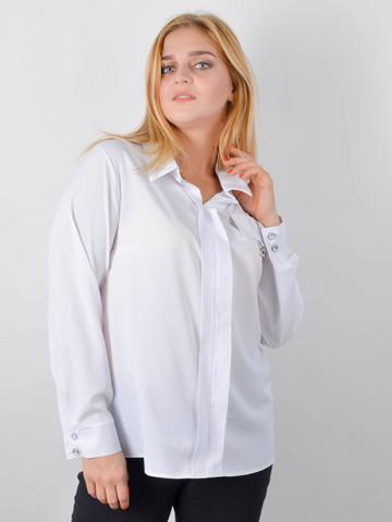 Петра. Блуза плюс сайз для офісу. Білий.