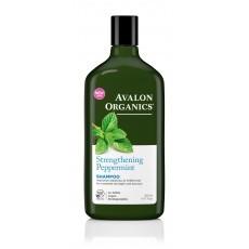 Avalon Organics Shampoo: Шампунь для волос укреплящий с маслом мяты(Peppermint Strengthening Shampoo), 325мл