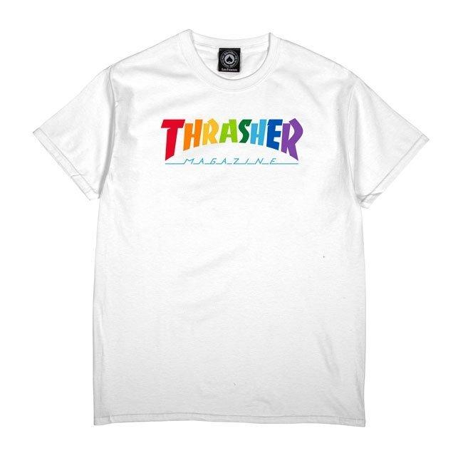 Футболка THRASHER Rainbow Mag (White)