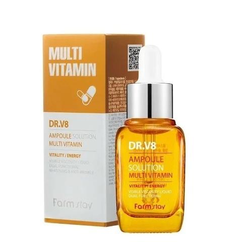 Осветляющая сыворотка FarmStay DR-V8 Ampoule Solution Multi Vitamin 30 ml