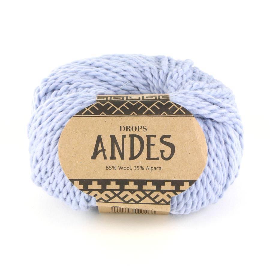 Пряжа Drops Andes 8112 серо-голубой