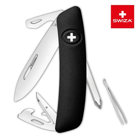 Швейцарский нож SWIZA D04 Standard, 95 мм, 11 функций, черный