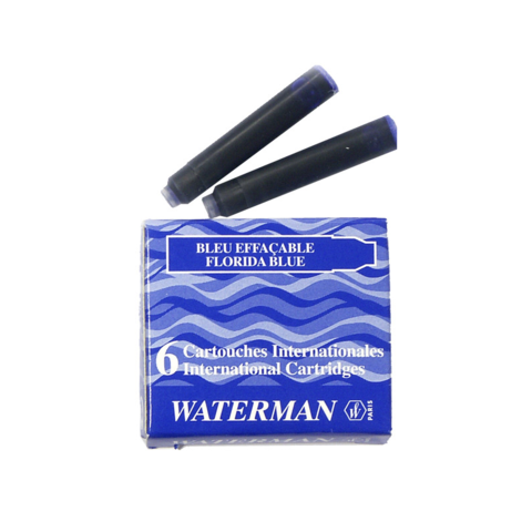 Чернила в картридже Waterman International Blue (S0110950)