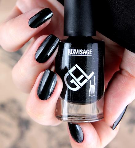 LuxVisage Лак для ногтей GEL finish тон 10(черный) 9г
