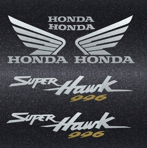 Набор виниловых наклеек на мотоцикл HONDA VTR 1000F SUPERHAWK 2002
