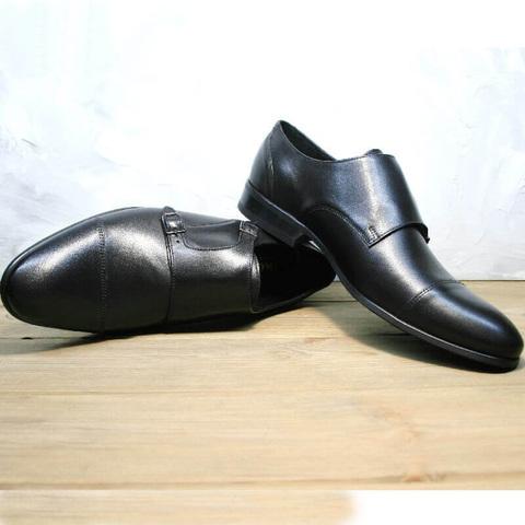 Черные туфли мужские классика. Модные туфли монки обувь Ikoc – BLC