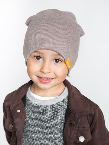 детская шапка из итальянской шерсти какао