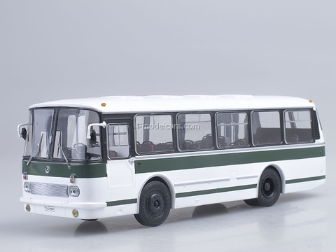 LAZ-695R white-green Soviet Bus (SOVA) 1:43