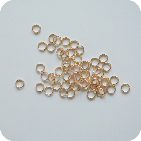 Соединительное кольцо 6 мм, золото
