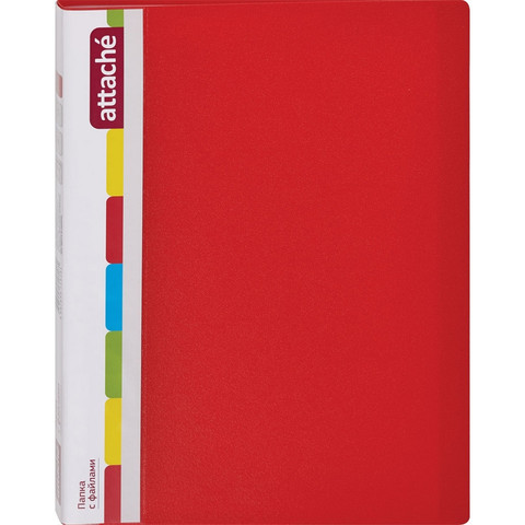 Папка файловая на 20 файлов Attache красная