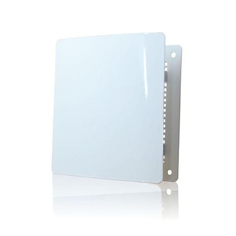 Решетка на магнитах Родфер РД-140 белая с декоративной панелью 140х140 мм