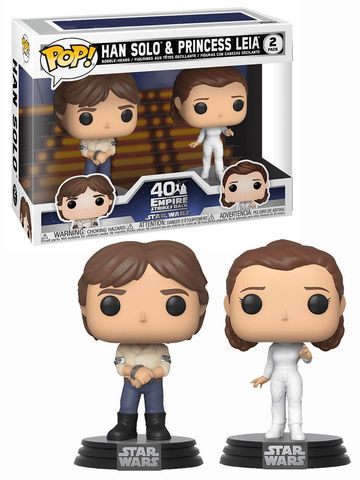 Фигурка Funko POP! Bobble: Star Wars: 2PK Han & Leia 46770