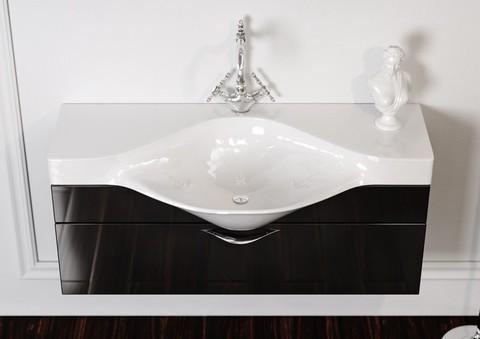 Мебель для ванной Aqwella Broadway 110 цвет черный Brw.01.10/00