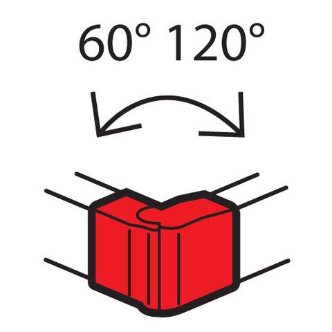 Кабель-канал 85x50 Внешний изменяемый угол, от 60° до 120°. Цвет Белый. Legrand Metra (Легранд Метра). 638022