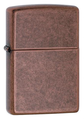 Зажигалка Zippo с покрытием Antique Copper, латунь/сталь, медная, матовая, 36x12x56 мм123