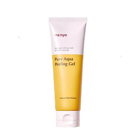 Manyo Pure Aqua Peel Gel мягкий увлажняющий пилинг-скатка с PHA-кислотой для сияния кожи