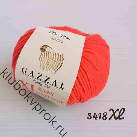 GAZZAL BABY COTTON XL 3418XL, Коралловый