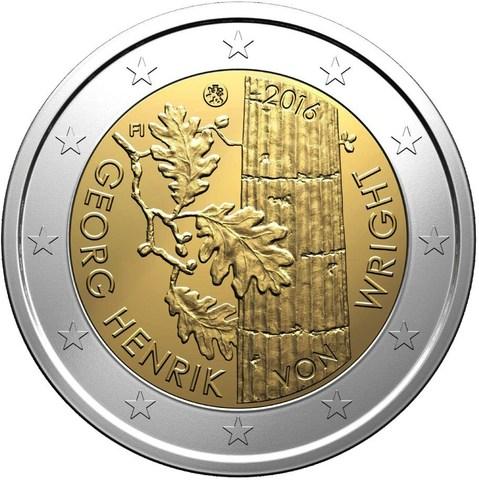 2 евро 2016 Финляндия - Георг Хенрик фон Вригт