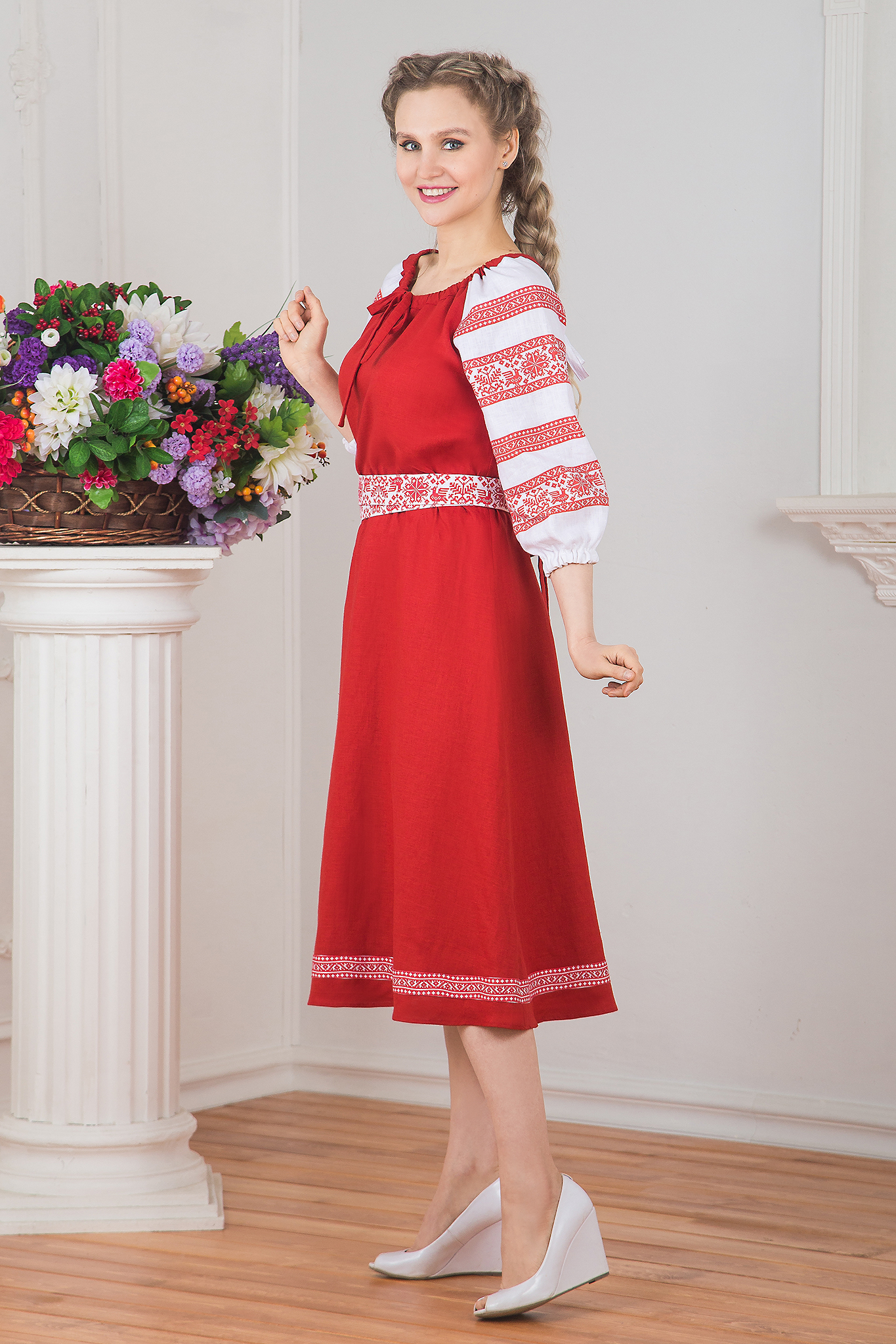 Платье Калина красная вид сбоку