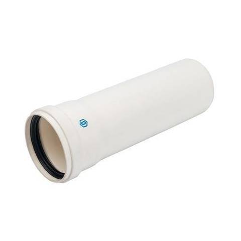 Труба для раздельного дымохода STOUT D80 мм, длина 250 мм (для конденсационного котла)