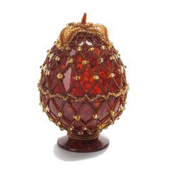 Сувенирное Пасхальное яйцо (натуральный янтарь, бисер), АВ-0759
