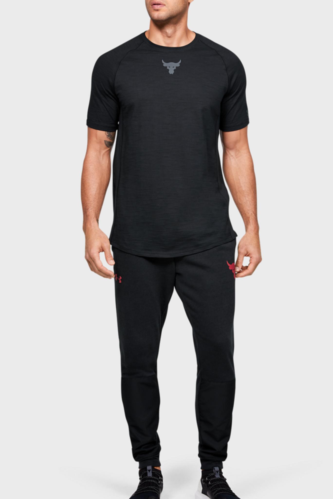 Мужская черная футболка Рroject Rock Charged Cotton SS Under Armour