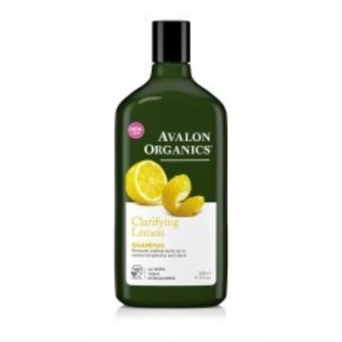 Avalon Organics Shampoo: Шампунь с маслом лимона для здорового блеска волос (Lemon Clarifying Shampoo), 325мл