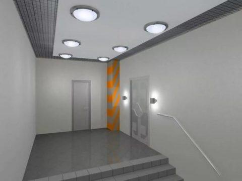 Светильник под светодиодную лампу SPO-101-1R 1х18Вт 160-260В LED-Т8/G13 1200 мм с рефлектором