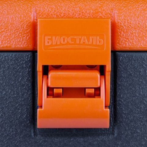 Изотермический контейнер (термобокс) Biostal (60 л.), серый/оранжевый