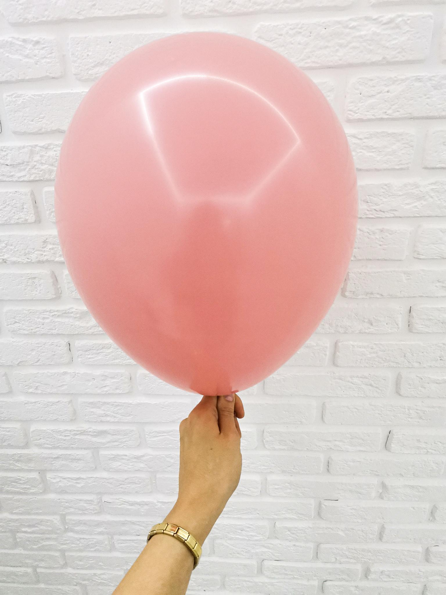 №20 Розовое дерево Гелиевый шар пастель 30см с обработкой