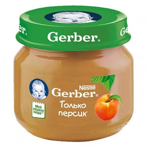 Gerber® Фруктовое пюре персик 80гр
