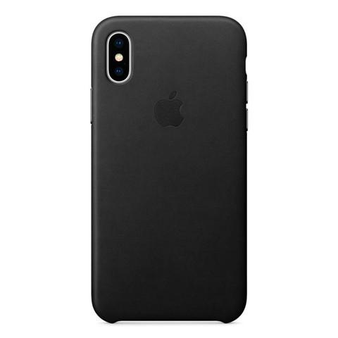 Чехол iPhone X/XS Leather Case /black/
