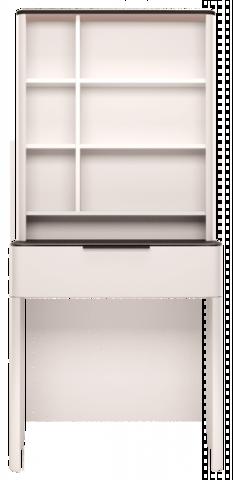 Стол туалетный с надстройкой Танго 23 Ижмебель белый/черный матовый