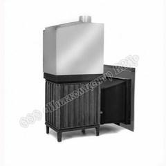 Топочный агрегат для бани Сударушка Семейная (Чугунная дверь с панорамным стеклом)