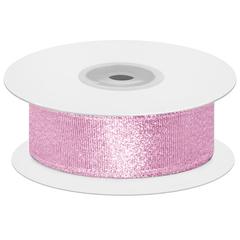 Мерцающий блеск, Розовый, Металлик, 2,5 см*22,85 м, 1 шт.