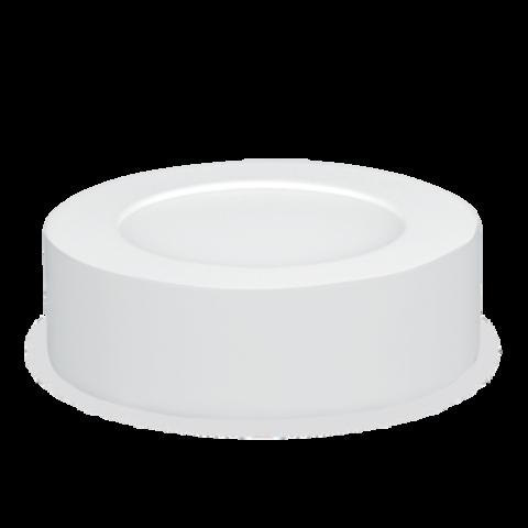 Панель светодиодная круглая Nrlp-eco 6Вт 230В 4000К 420Лм 120мм белая накладная IP40 IN Home