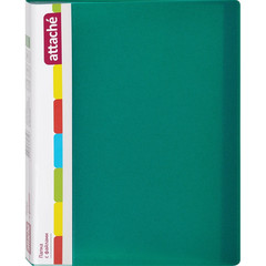 Папка файловая Attache на 20 файлов зеленая