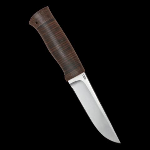 Нож шкуросъёмный Следопыт, АиР, кожа, 95х18