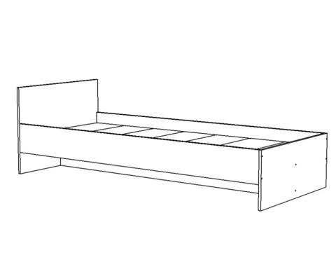 Кровать ИТАЛИ-1-1800-0800 /1832*600*832/