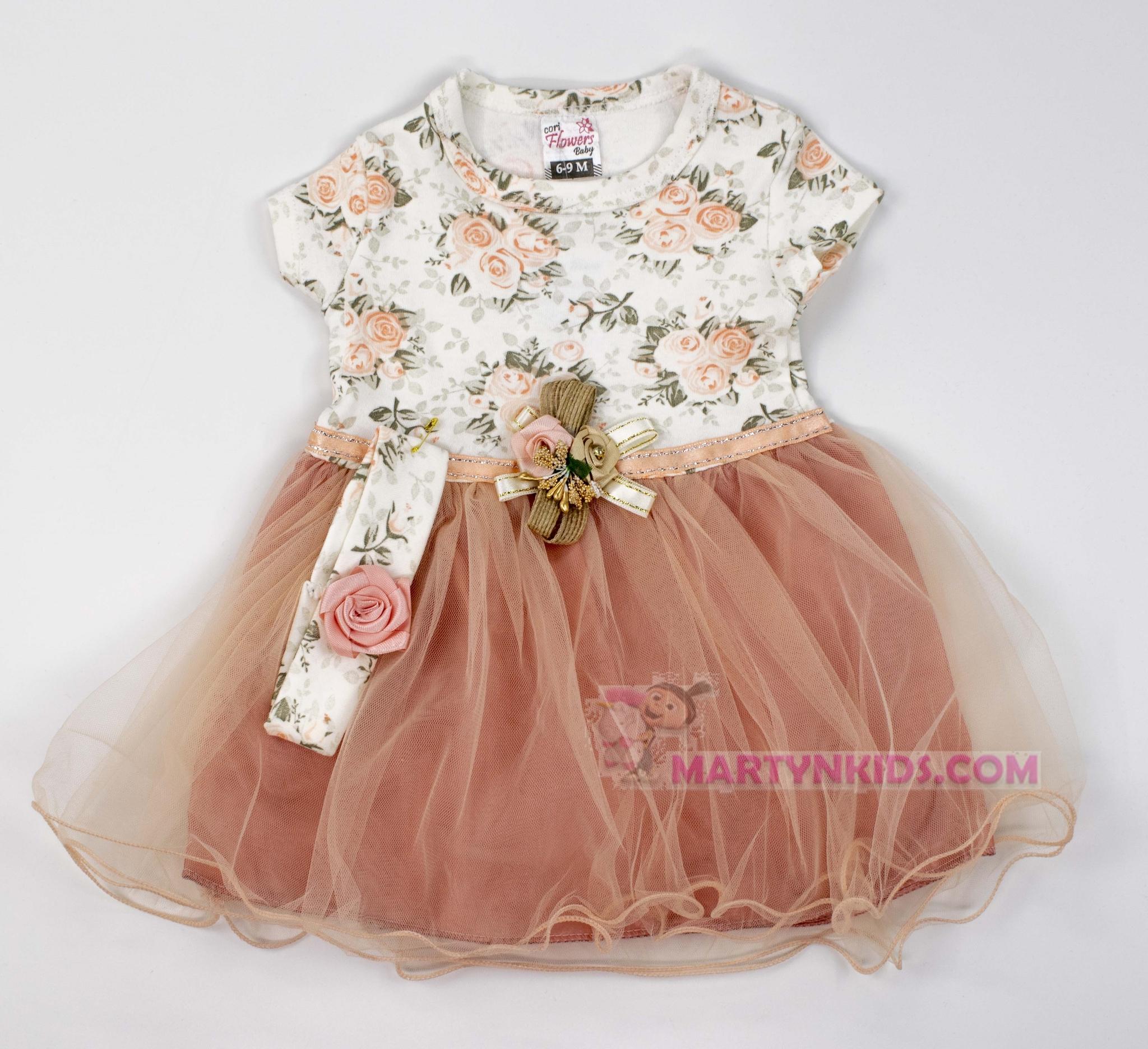 3407 платье Розочки гепюр