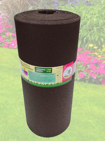 Лента бордюрная 75 см, толщина 3 мм, в рулоне 10 метров, коричневая