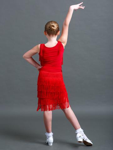 Детский топ для танцев с бахромой