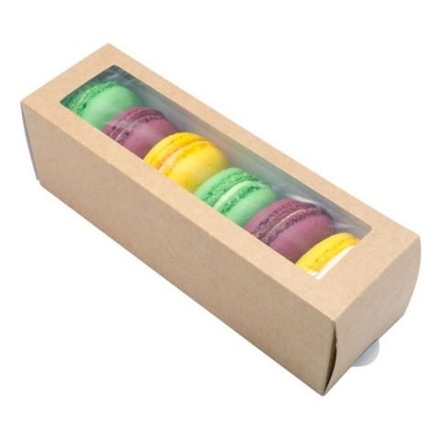 Коробочки для макаронс 18 х 5,5 х 5,5 см (6 макаронс)